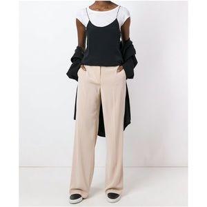 DKNY wide leg trousers pants nude cream long new 2